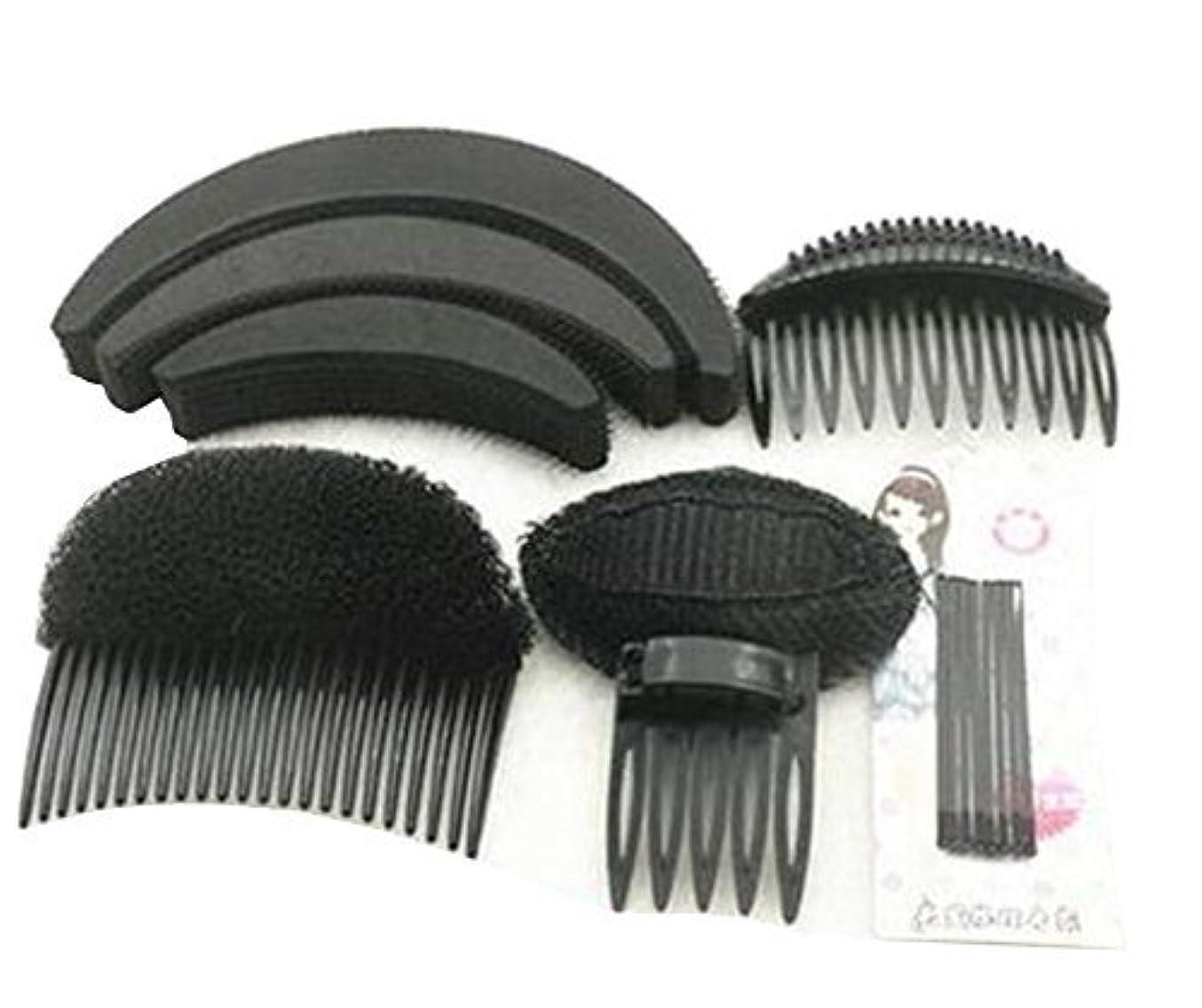 件名課す立ち寄る1 Set As picture Shown Hair Styler Styling Tool DIY Hairpin Bump Up Inserts Base Comb Bumpits Bump Foam Pads Braiding Twister Ponytail Roll Rings Maker Holder Barrette Clip Pins Accessories [並行輸入品]