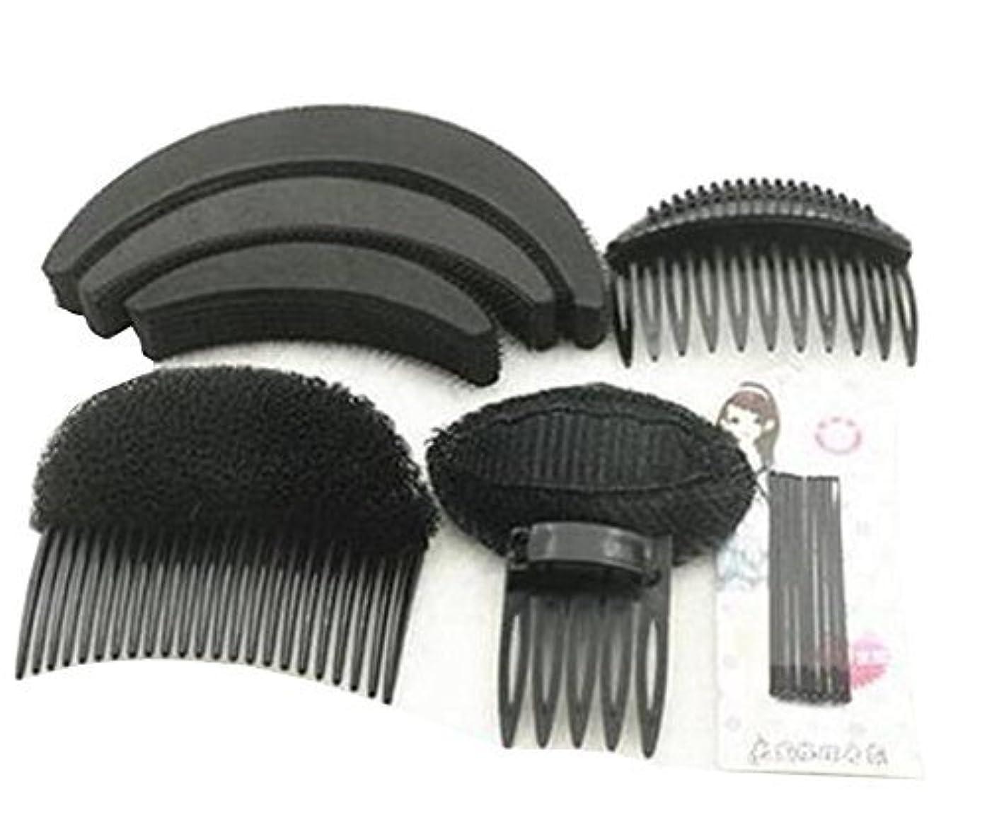 全く店主続編1 Set As picture Shown Hair Styler Styling Tool DIY Hairpin Bump Up Inserts Base Comb Bumpits Bump Foam Pads Braiding Twister Ponytail Roll Rings Maker Holder Barrette Clip Pins Accessories [並行輸入品]