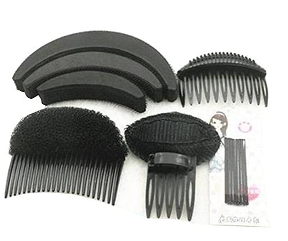 制限素人リングレット1 Set As picture Shown Hair Styler Styling Tool DIY Hairpin Bump Up Inserts Base Comb Bumpits Bump Foam Pads Braiding Twister Ponytail Roll Rings Maker Holder Barrette Clip Pins Accessories [並行輸入品]