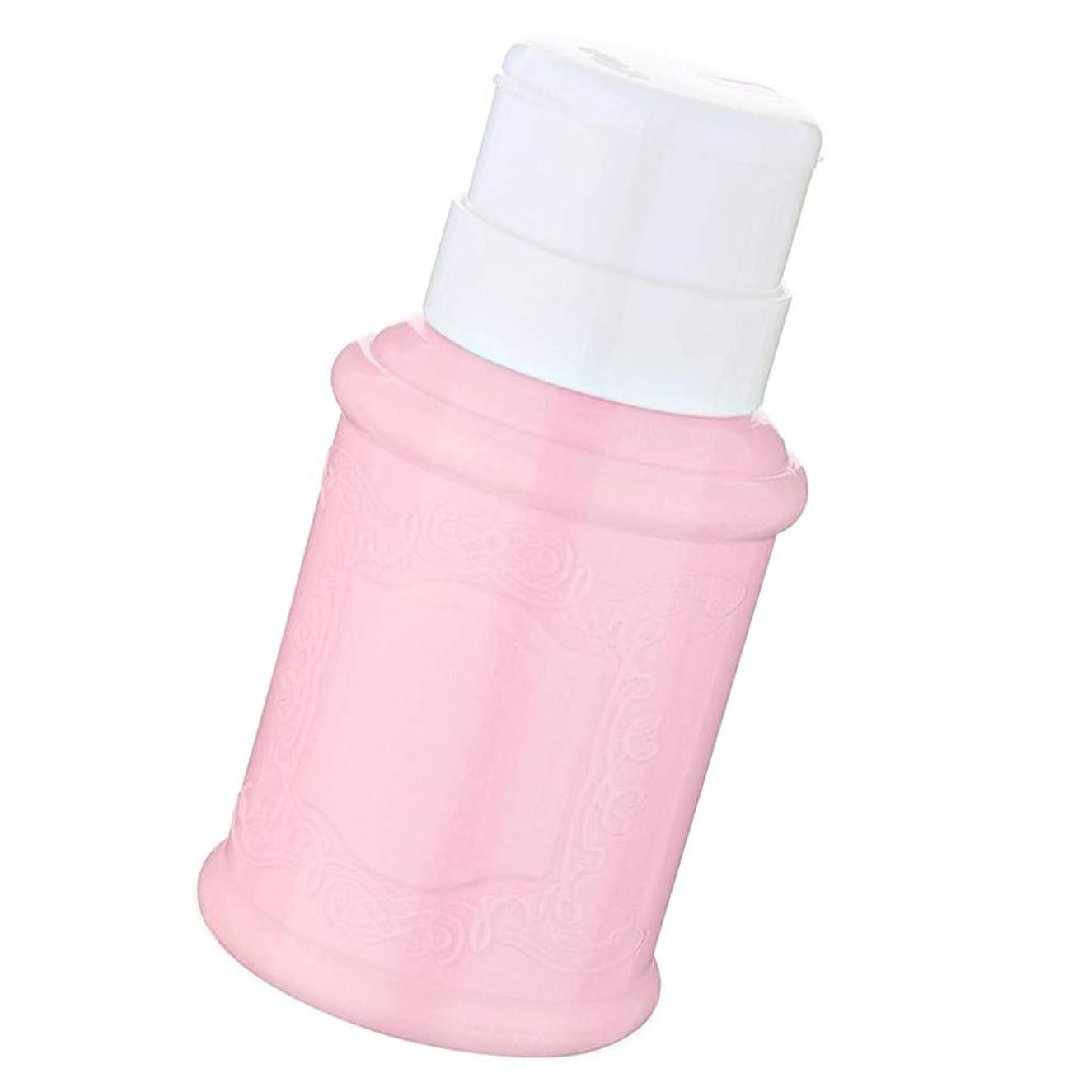 繰り返した適応的震えSM SunniMix 空ポンプ ボトル ネイルクリーナーボトル ポンプディスペンサー ジェルクリーナー 全3色 - ピンク