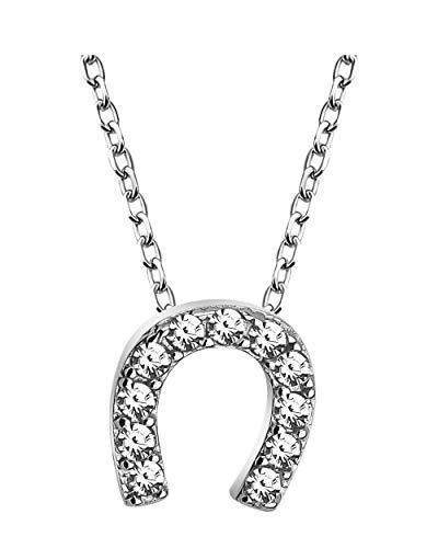 SOFIA MILANI - Collar para Mujeres en Plata de Ley 925 - con Circonitas - Colgante de Caballo de Herradura - 50318