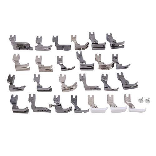 Katigan 25 Piezas Suministros para MáQuina de Coser Juego de Pies Prensatelas DIY para MáQuina de Coser Industrial Juki Ddl-5550 8500 8700