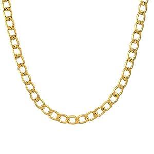 Memoir Gold plated thin interlink super finish stylish Fashion chain Women Men