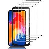 GESMA Vidrio Templado Compatible con iPhone 12 Pro Max, 4 Piezas Protector de Pantalla, Marco de Posicionamiento, Cristal Templado de HD Anti-Arañazos