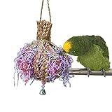 Keersi natur Ball Stroh Braid Kauen Spielzeug für Papageien Sittiche Nymphensittiche Sittiche Unzertrennliche Finch Aras Graupapageien Amazon Kakadu Käfig