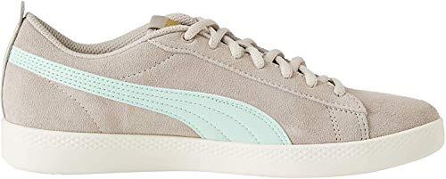 Puma Damen Smash WNS v2 SD Sneaker, Grau (Silver Cloud-Mist Green Team Gold-Whisper White), 36 EU