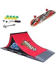 KETIEE Finger Skate Park Kit Juego de minimonopatín de Dedo con rampa y Otros Accesorios Diapasón de rampa Parque Juguete para Niños