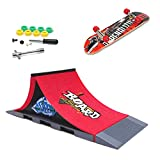 MOMSIV Mini Skateboard per Dita con rampa e Set di Accessori, A