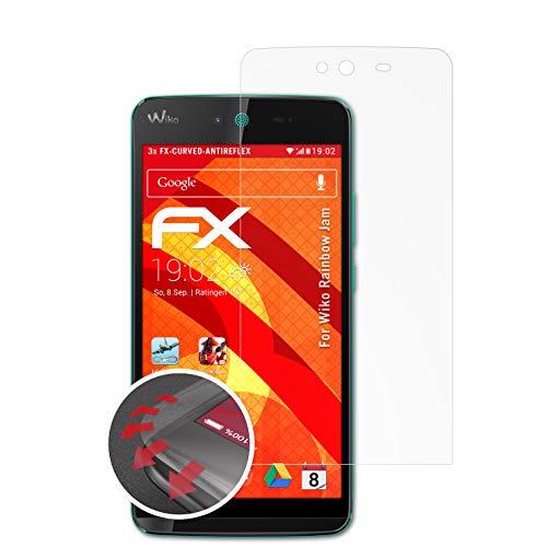 atFolix Schutzfolie kompatibel mit Wiko Rainbow Jam Folie, entspiegelnde & Flexible FX Bildschirmschutzfolie (3X)