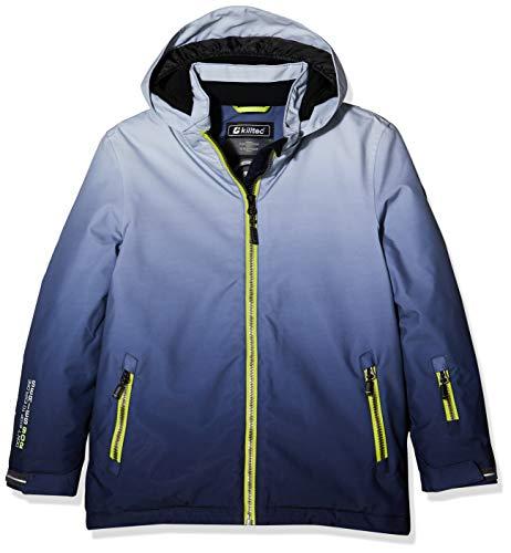 Killtec Jungen Pendaro Jr Skijacke/Funktionsjacke Mit Kapuze Und Schneefang, 10.000 Mm Wassersäule, Wasserdicht, grau, 164