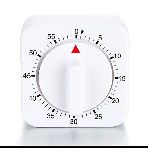 Nuluxi Weiß Eieruhren Küchenhelfer Mechanische Küche Timer Küchentimer Anzeige Zeitmesser Moderne und Trendige 60-minütigen Erinnerung Digitale Kurzzeitwecker,Perfekte Accessoire für Jede Küche-Weiß