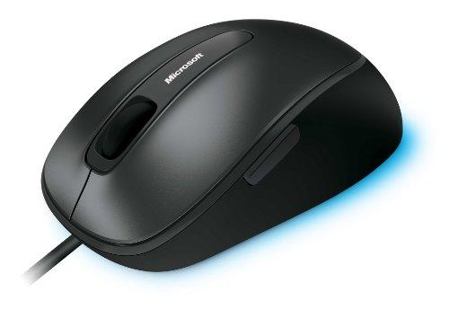 Microsoft Comfort Mouse 4500 kabelgebunden, für Rechts- und Linkshänder geeignet, schwarz und grau