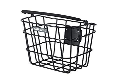 Basil Unisex– Erwachsene Bremen Fahrradkorb, schwarz, 28 x 37 x 26 cm