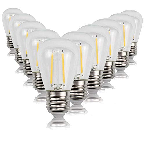Dekorative Leuchtmittel Glühlampen 10 STÜCKE/PAC KS14 antike lampe LED filament lampe warmes licht string garten dekoration kronleuchter festzelt