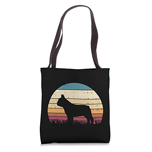 French Bulldog Sunset Retro Frenchie Dog Lover Owner Gift Tote Bag