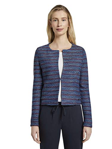 TOM TAILOR Damen Blazer & Sakko Blazer in Boucle-Optik pink Blue Boucle,L