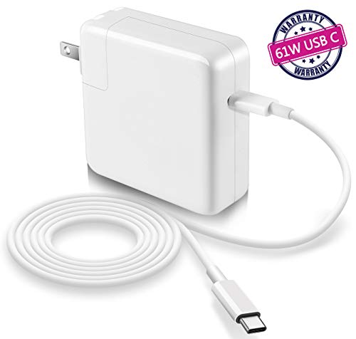 61w USB C Power Adapter Compatible with MacBook Pro USB C ChargerReplacement Charger for New MacBook Air 2018Work with Other USB C Device