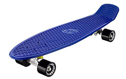 Ridge Organics 27 Zoll Cruiser Board EU-hergestelltes Skateboard Skate Komplett, Yves Blue