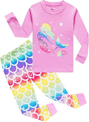Girls Mermaid Unicorn Pajamas