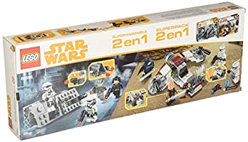 LEGO Star Wars 66596 Super Battle Pack 2 In 1 Includes 75206 Jedi & Clone Troopers & 75207 Imperial Patrol Pack 1.54 Lb