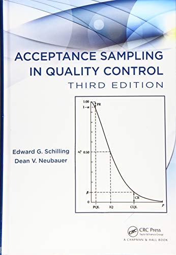 Compare Textbook Prices for Acceptance Sampling in Quality Control Statistics: Textbooks and Monographs 3 Edition ISBN 9781498733571 by Schilling, Edward G.,Neubauer, Dean V.