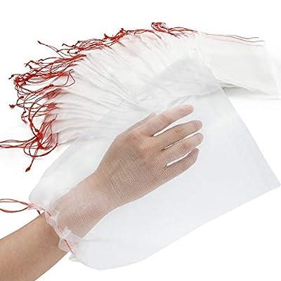 ENPOINT Fruit Bags for Fruit Trees, 100 Pack Fruit Protection Covers, 8x12 Inches Vegetable Protector Bag, Reusable Nylon Mesh Bag for Plant Flower, Garden Netting Bags