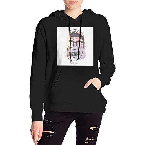 Schmieder Skizzy Mars Womens Sweatshirt Autumn Winter Leisure Pullover Hoodies Black