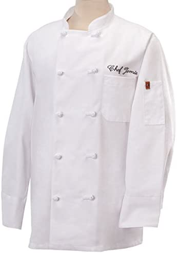 French buttons-White-Medium Fame Adults Chef Coat