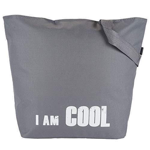 Roomando koeltas XL koelbox boodschappentas shopper thermotas grijs 51 cm x 38,5 cm x17 cm grijs