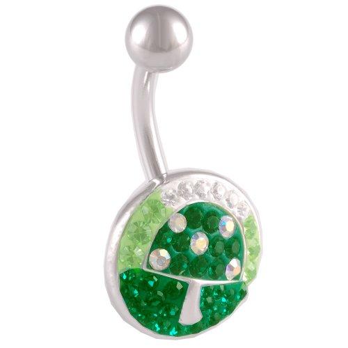 bodyjewelry New Ferido BL-CR-Emerald-Smaragd Grün