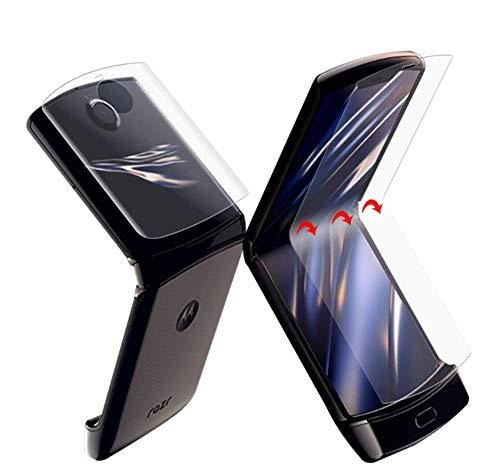MARR Schutzfolie für Motorola Razr 2019, 3 Sätze TPU-Folie (Nicht Panzerglas) HD Bildschirmschutz Folie Bildschirm Folie Full Screen für Motorola Razr 2019