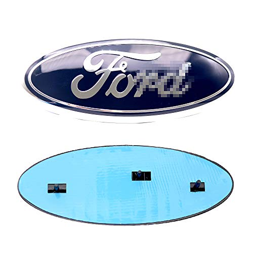 For Ford Oval 9inch Front Grille Rear Tailgate Replacement Logo Emblem Badge Suitable for 2004-2014 F150 - Dark Blue