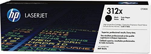 HP 312X (CF380X) Schwarz Original Toner mit hoher Reichweite für HP Color Laserjet Pro MFP M476