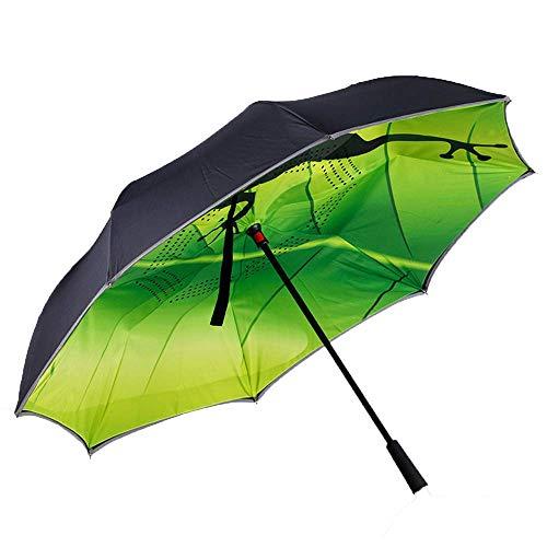 ZHANGYY Sombrilla Invertida Multifuncional en Forma de C Manos Libres Sunny Paraguas Plegable de Secado rápido Parabrisas Reforzado Apertura automática Cierre