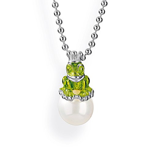 Heartbreaker Damen-Froschanhänger froggy 925 Silber Perle Muschelkernperle Weiß - LD MN 38