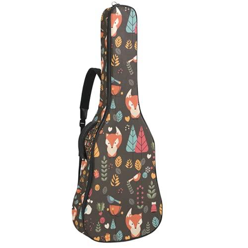 Winter Garden Fox E-Gitarrentasche 0,35 Zoll Dicke Polsterung Wasserdicht Dual Verstellbarer Schultergurt Gitarrentasche Gigbag