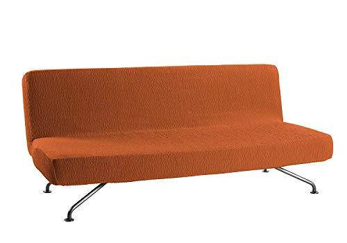 Estoralis Beta Funda sofá elástica, Naranja, Clic clac 3 plazas (de 180 a 205 cm.)