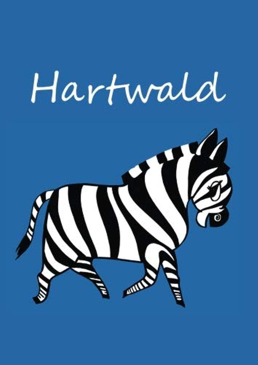 横向き復活する香りHartwald: individualisiertes Malbuch / Notizbuch / Tagebuch - Zebra - A4 - blanko