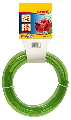 sera 45053 Schlauch für Aquarium 9/12, 2.5 m, grün
