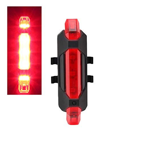 Jorzer Luz de Bicicleta USB Recargable Impermeable Cola luz 3 Modos de Bicicleta luz de Advertencia de Seguridad se Adapta a Todas Las Bicicletas de montaña, Bicicleta de Carretera, Mochila (Rojo)