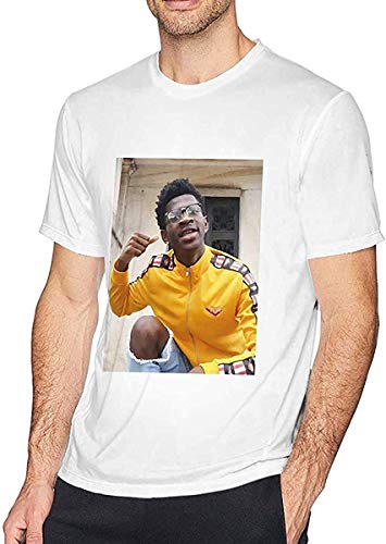 Lil NAS X Cool Stylish Classic T-Shirts for Men,White,L