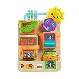 Orticello verticale giocattolo per bebè, con 7 attività sorprendenti e sole luminoso Grazie alla tecnologia Smart Stages, canzoni e frasi insegnano l'alfabeto, a contare da 1 a 10, i colori e abitudini salutari che accompagneranno il piccolo mentre ...