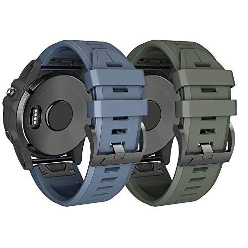 ANBEST Pulsera de Silicona Compatible con Garmin Fenix 6X/Fenix 5X/Fenix 6X Pro Correa, 26mm Liberación Rápida Pulsera para Fenix 5X Plus/Fenix 3/Fenix 3 HR Smart Watch,