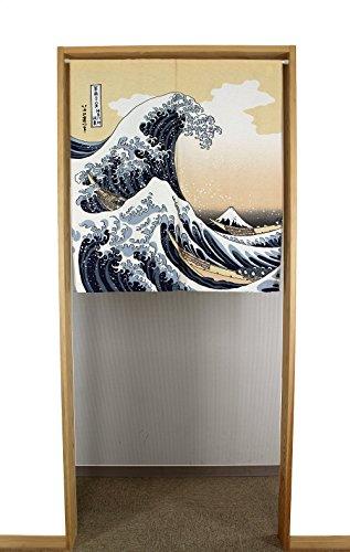 Narumi Narumikk Noren (Cortina Japonesa Tradicional) 85x150cm Importado de Japón (Ukiyo-e Gran Ola de Kanagawa Hokusai 85x90cm 14201)