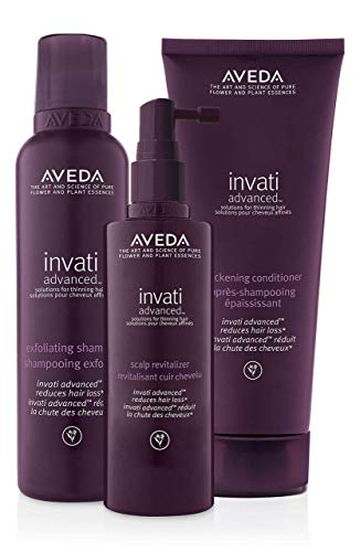 Aveda Invati Advanced Shampoo 67 Ounce Conditioner 67 Ounce Scalp Revitalizer 5 Ounce