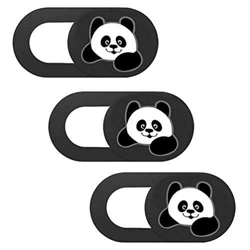 Lurrose 3Pcs Panda Tampa Deslizante Tampa Da Câmera Web Webcam para Computador Portátil Smartphones Tablets Proteja Sua Privacidade E Segurança Na Webcam Deslizante