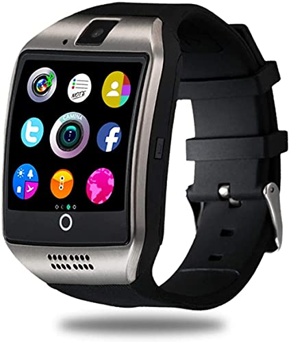 CNPGD - Reloj inteligente para teléfonos Android Samsung iPhone, compatible con cuatro bandas desbloqueadas, pantalla táctil, podómetro, monitor de sueño para hombres y mujeres, color negro