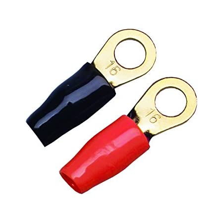 AUPROTEC 4x Rohrkabelschuhe 10 mm/² Loch-/Ø M6 Unisolierte SC Kabel-Verbinder aus Kupfer verzinnt
