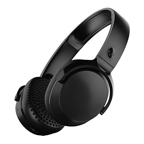 Skullcandy Riff Kabellose On-Ear Kopfhörer mit Mikrofon, Bluetooth Wireless, Schnellladefunktion mit 12 Stunden Batterielaufzeit, Faltbar, Plüsch-Ohrpolster mit Strapazierfähigem Kopfbügel, Schwarz