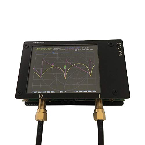 Sunronal Vector Network Analyzer, LCD-Digitalanzeige Touchscreen Kurzwelle MF HF UKW UHF-Antennenanalysator Stehende Welle